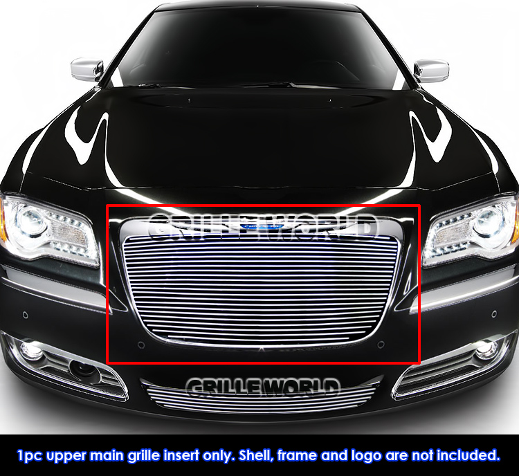 for 2011 2014 chrysler 300 300c billet grille insert ebay. Black Bedroom Furniture Sets. Home Design Ideas