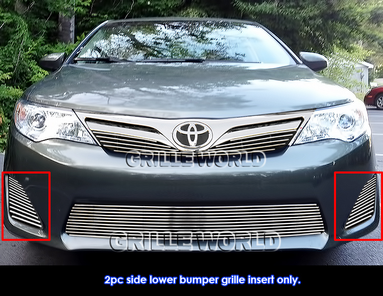 fits 2014 toyota camry le xle fog light cover billet. Black Bedroom Furniture Sets. Home Design Ideas