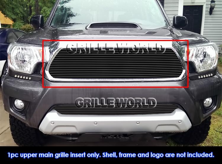Fits 2012-2015 Toyota Tacoma Regular Black Upper Billet Grille Insert