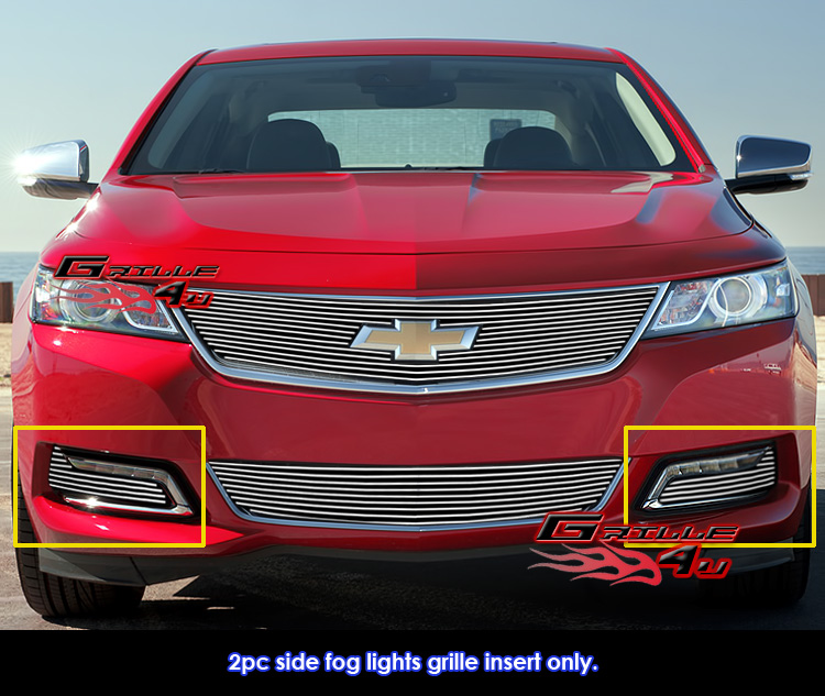 Fits 2014-2016 Chevy Impala Fog Light Cover Billet Grille
