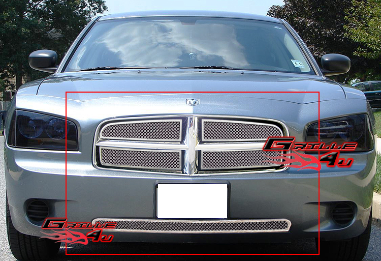 For 05 10 Dodge Charger Stainless Mesh Grille Combo Insert Ebay