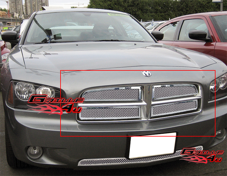 For 05 10 Dodge Charger Stainless Steel Mesh Grille Insert