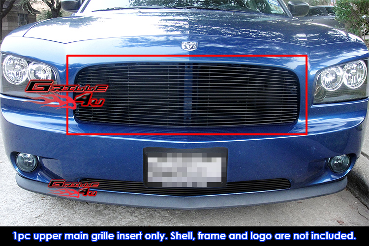 for 05 10 dodge charger black billet grille insert ebay. Black Bedroom Furniture Sets. Home Design Ideas
