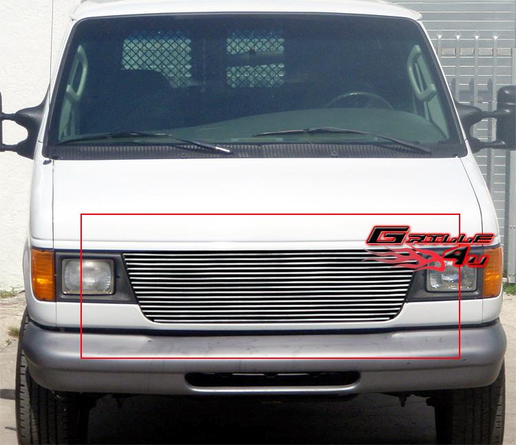 2000 Ford Econoline E150 Cargo Interior: For 92-06 Ford Econoline Van Billet Grille Insert
