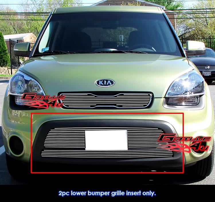 2012 Kia Soul Exterior: *New* Fit Kia Soul Lower Bumper Billet Grille Inserts 2012