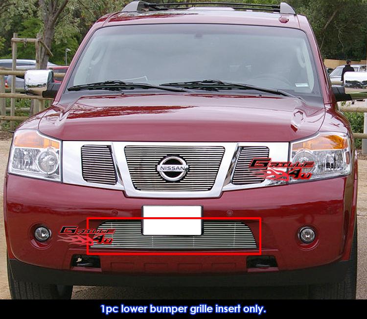 Fits 2004 2008 Chrysler Crossfire Billet Grille Grill: Fits 2008-2015 Nissan Armada Bumper Billet Grille Insert