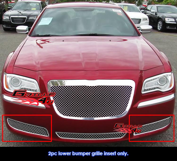 Fits 2011-2013 Chrysler 300/300C Fog Light Stainless Steel