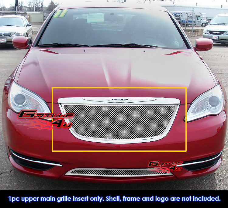 Fits 2011-2013 Chrysler 200 Stainless Steel Mesh Grille