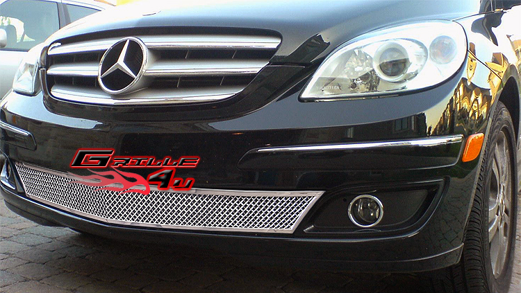 For 06 07 mercedes benz b200 stainless bumper mesh grille for Mercedes benz b200 aftermarket parts