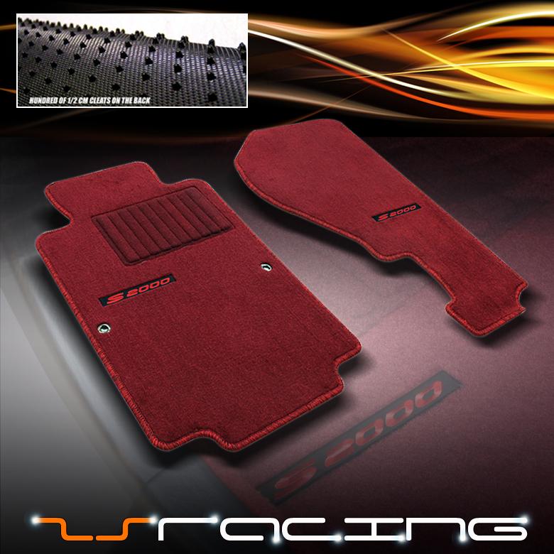 00 09 HONDA S2000 JDM EXTENDED RED FLOOR MATS CARPET EBay