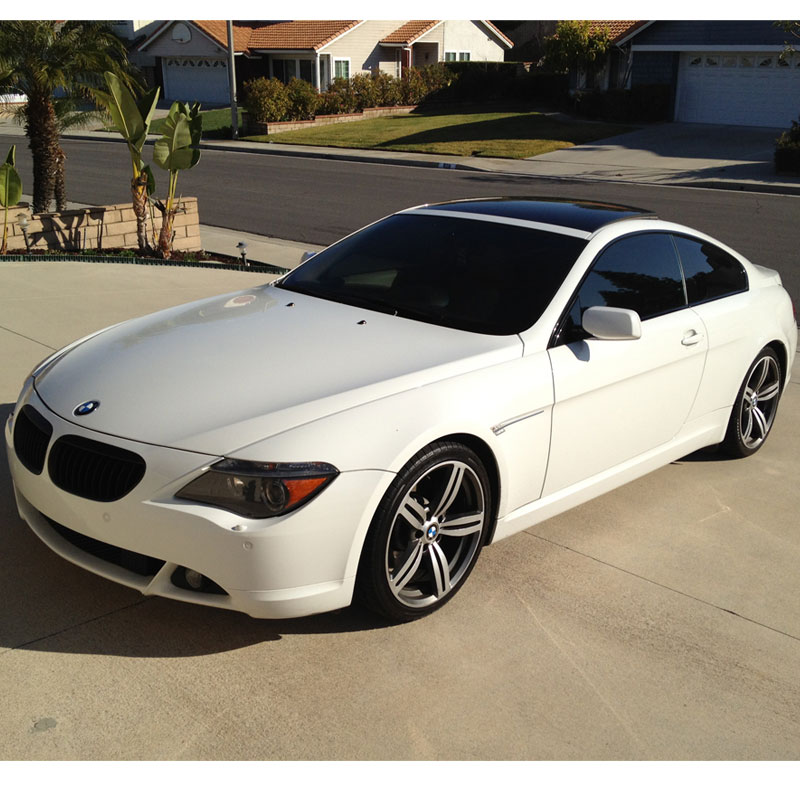 fs 2005 bmw 6 series white 645ci sport 81000 miles auto. Black Bedroom Furniture Sets. Home Design Ideas