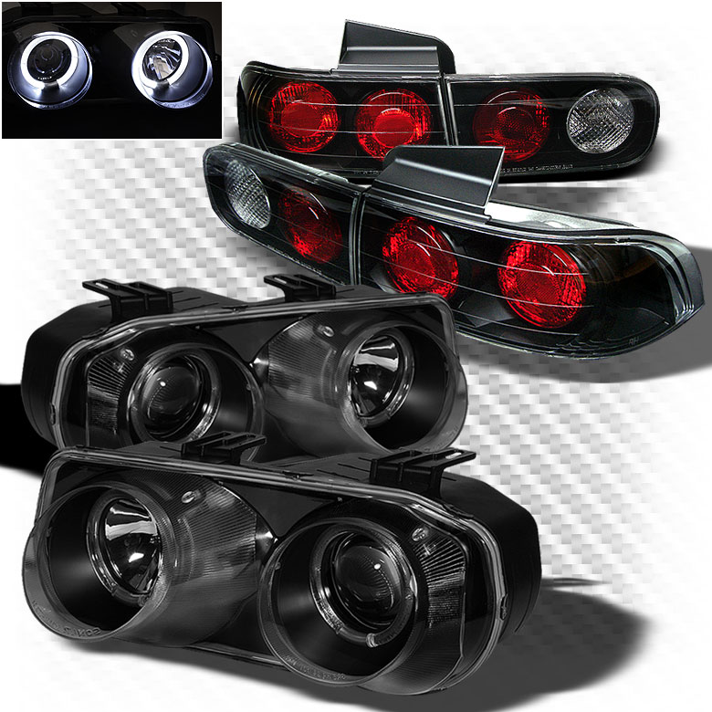 Acura Integra Headlights: For-94-97-Acura-Integra-4-Door-Twin-Halo-Projector