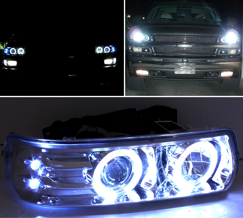 99-02 Chevy Silverado / Tahoe / Suburban Angel Eye Halo ...