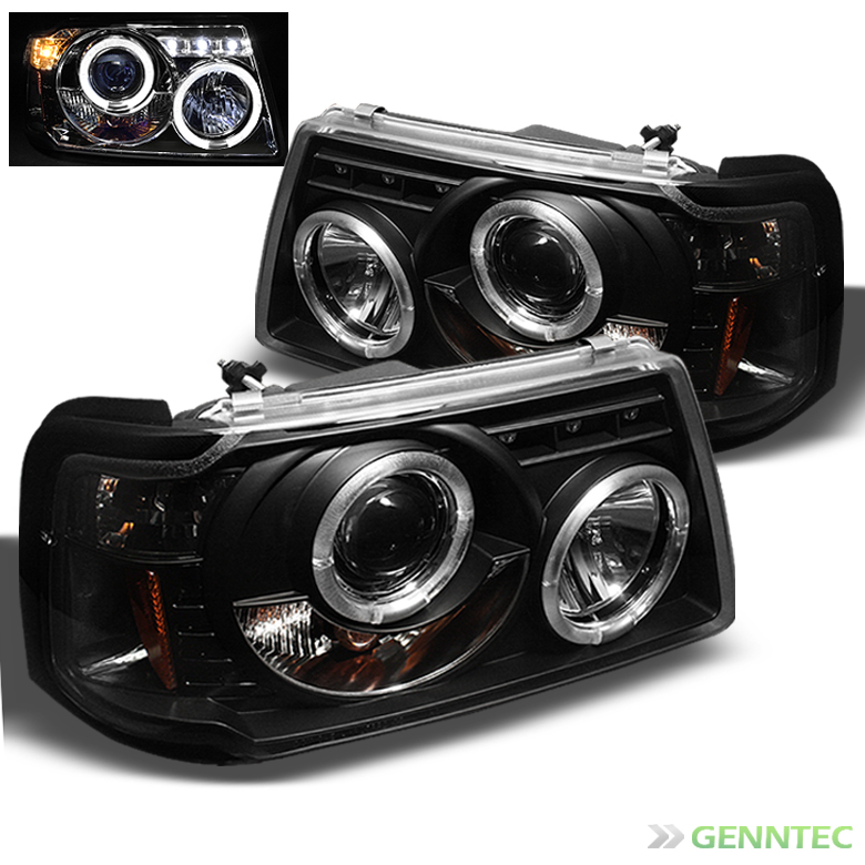 Ford Ranger Projector Headlights : For  ford ranger dual halo led pro headlights