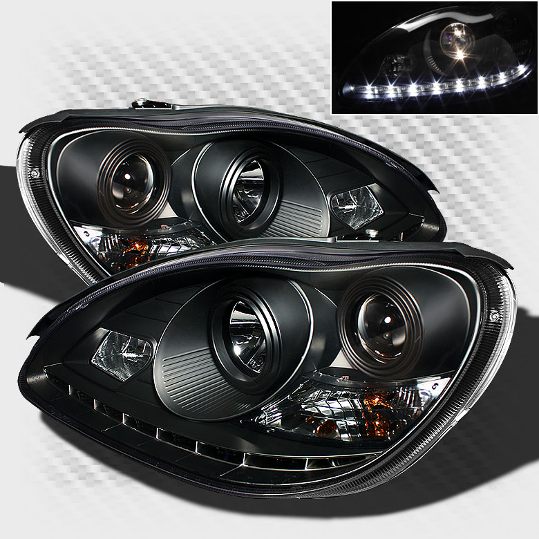 For 00 05 mercedes benz w220 s class drl led pro for Mercedes benz r350 accessories