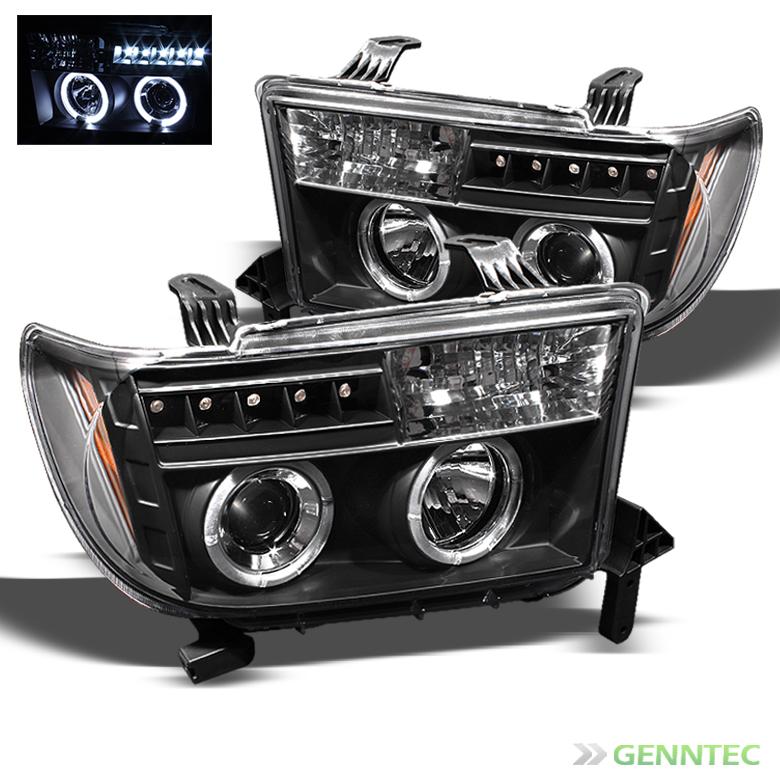 For 2007-2013 Toyota Tundra Twin Halo LED Pro Headlights ...