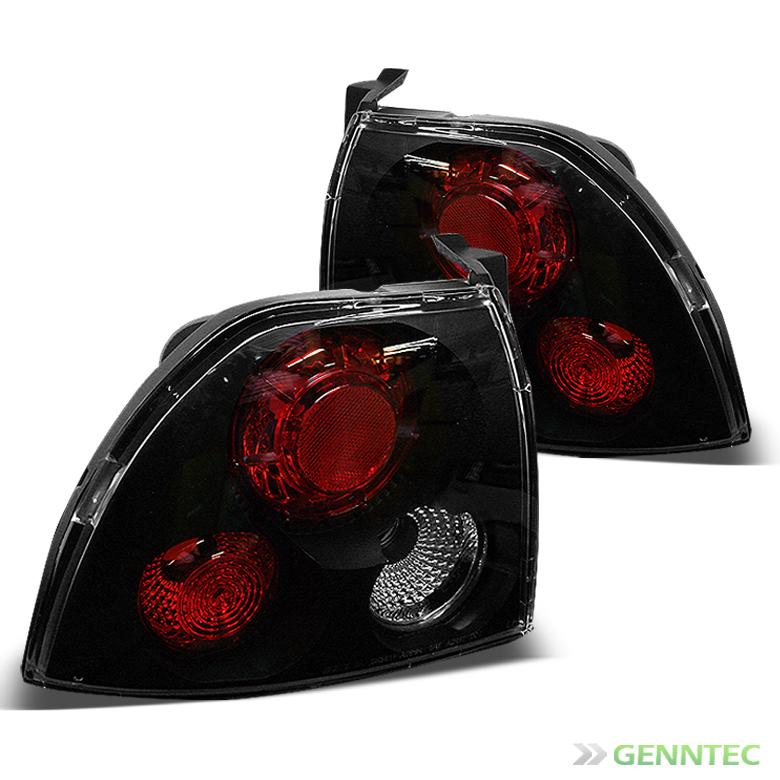 for 94 95 honda accord 2 4 door black tail lights rear. Black Bedroom Furniture Sets. Home Design Ideas