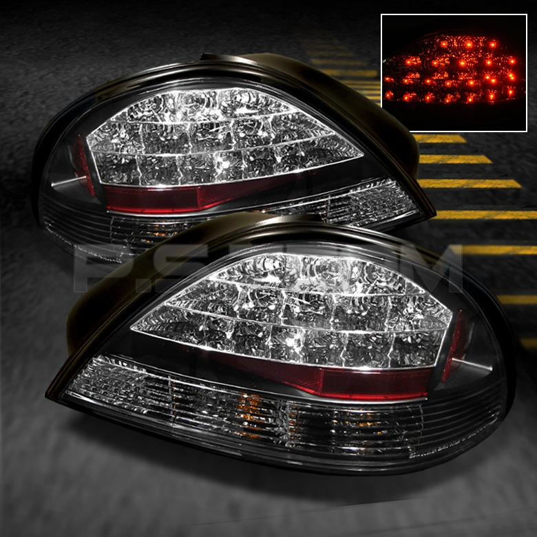 99 05 Pontiac Grand Am SE GT Black LED Tail Brake Lights Lamps ...