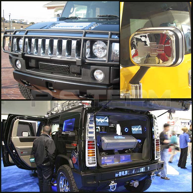 02 05 hummer h2 36pcs exterior chrome trim accessories ebay