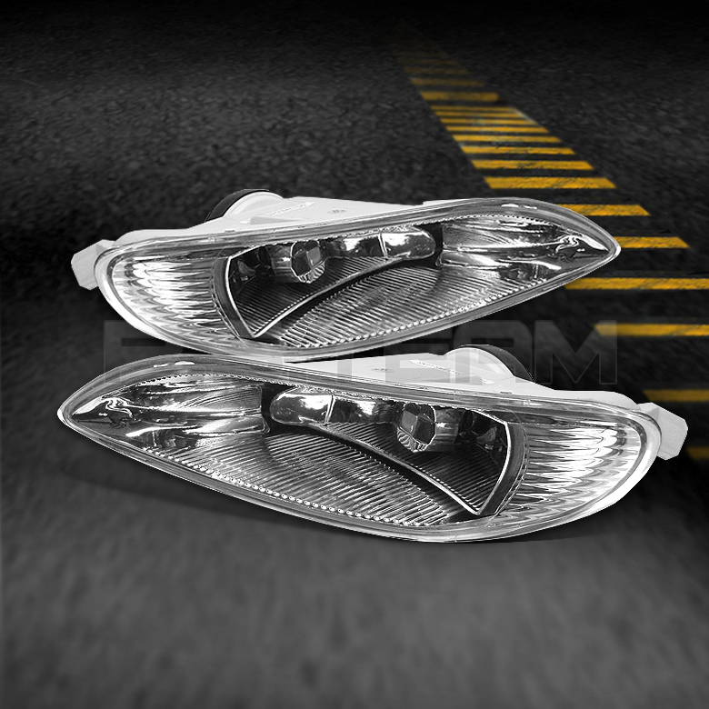 02 04 Toyota Camry Solara 05 08 Corolla Clear Fog Lights Lamps w Swtich Bulbs