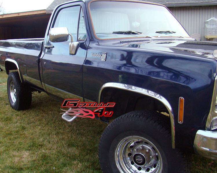 73 87 Chevy C K Ck Pickup Truck Chrome Fender Trim Ebay