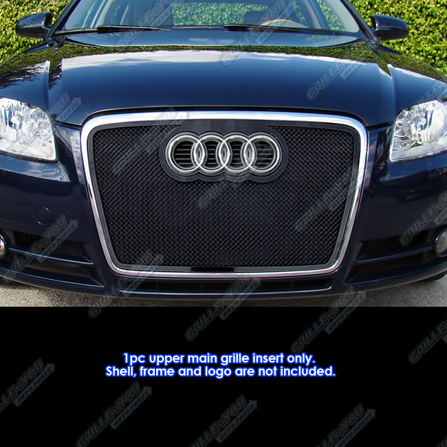 Fits 2006-2007 Audi A4/B7/Cabriolet Black Stainless Steel