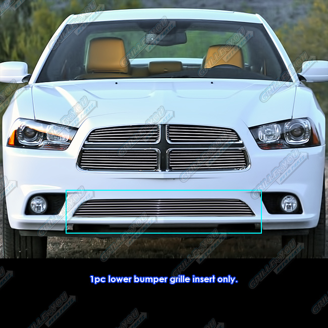 fits 2011 2014 dodge charger bumper billet grille grill. Black Bedroom Furniture Sets. Home Design Ideas