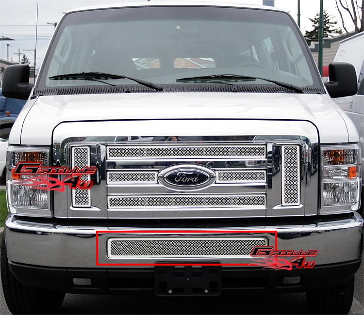 Fit 08-2013 Ford Econoline Van/E-Series Bumper Stainless