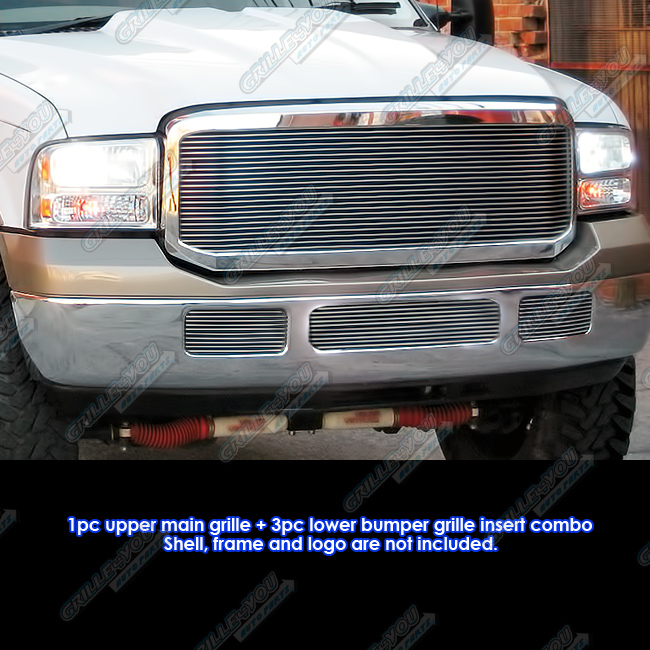 excursion f250 f350 f450 f550 billet grille grill combo insert f81158a