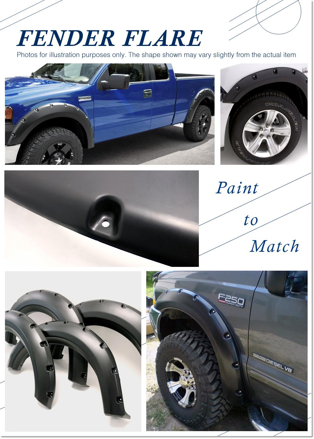 Image is loading magnus pocket riveted precision molding fender flares ford