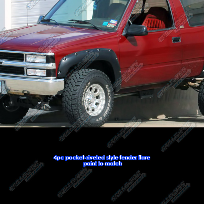 1992 Gmc Rally Wagon 1500 Exterior: APS Reinforced ABS Fender Flares Riveted 4Pcs For 88-98