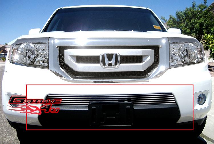 Fits 09 11 2011 Honda Pilot Bumper Billet Grille Insert Ebay