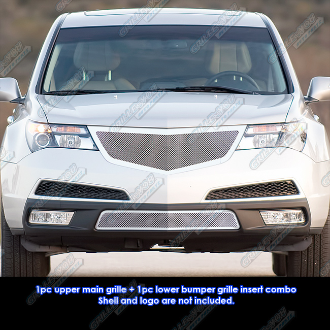 Fits 2011-2013 Acura MDX Stainless Steel Mesh Grille Grill