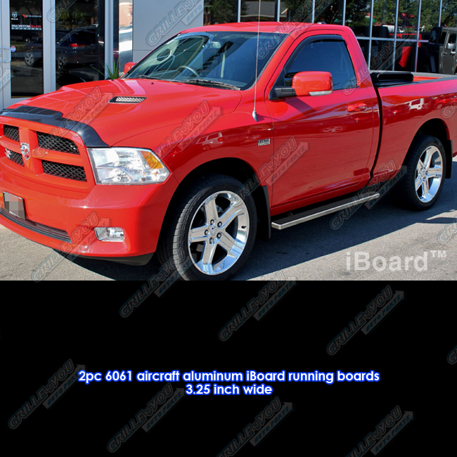"2010 Dodge Ram 2500 Regular Cab Exterior: 3"" IBoard Running Boards Fit 09-17 Dodge Ram 1500/2500"