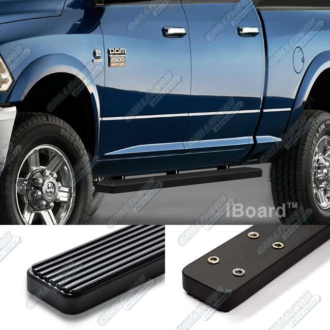 "Matte Black 3"" IBoard Running Boards Fit 09-16 Dodge Ram"