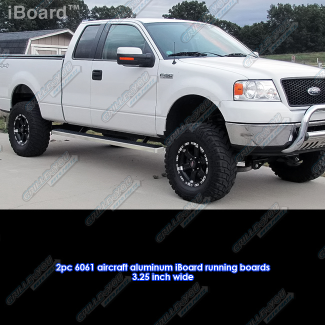 "3"" IBoard Running Boards Fit 04-08 Ford F-150 Super Cab"