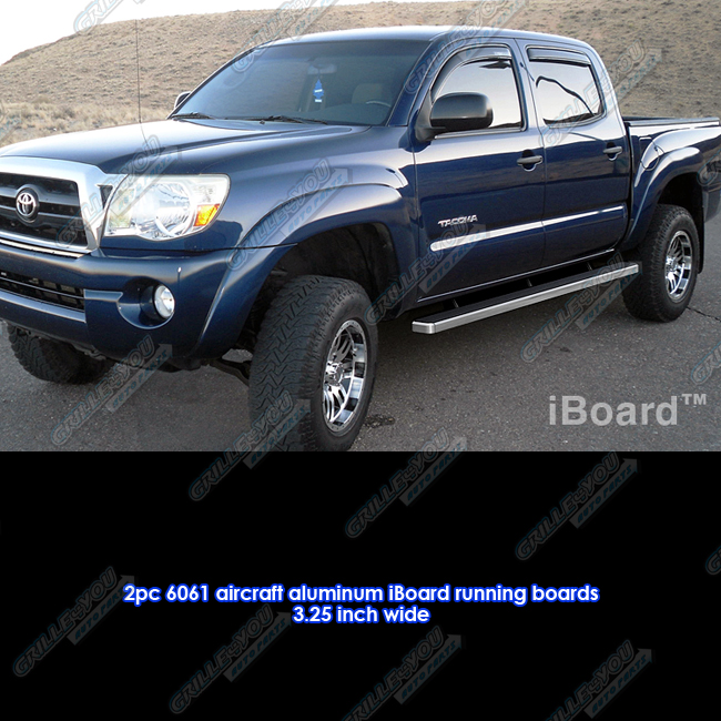 """Toyota Tacoma Crew Cab: 3"""" IBoard Running Boards Fit 05-16 Toyota Tacoma Double"""
