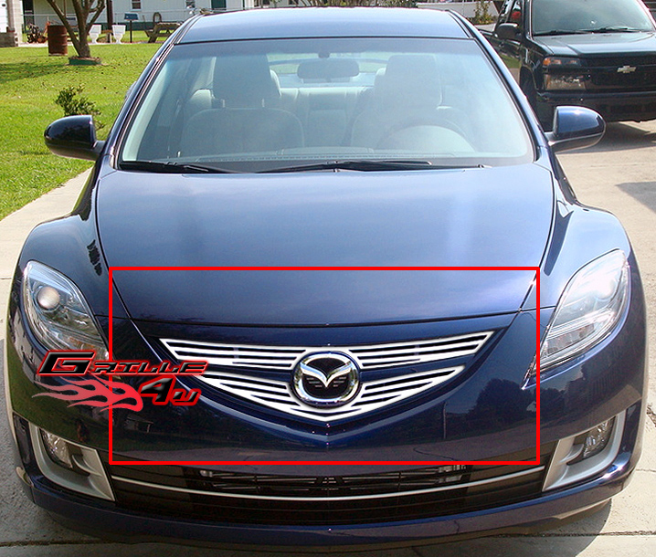fits 09 10 2010 mazda 6 perimeter grille insert. Black Bedroom Furniture Sets. Home Design Ideas