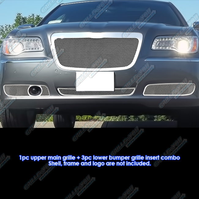 2011 2014 Chrysler 300 300c Fog Light Stainless Steel Mesh: Custom Fits 2011-2012 Chrysler 300/300C Stainless Steel