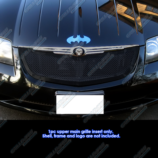Fits 04-08 Chrysler Crossfire Black Stainless Mesh Grille