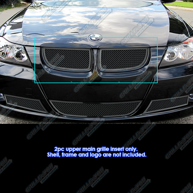 Fits 2006-2007 BMW 325I/330I Black Stainless Steel Mesh