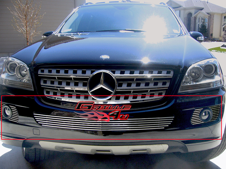 Fits 06 08 mercedes benz ml350 500 bumper billet grille ebay for Mercedes benz ml350 accessories