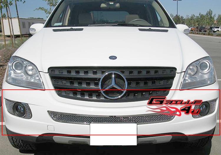 Fits 06 08 mercedes benz ml350 500 bumper mesh grille ebay for Mercedes benz accessories ml350