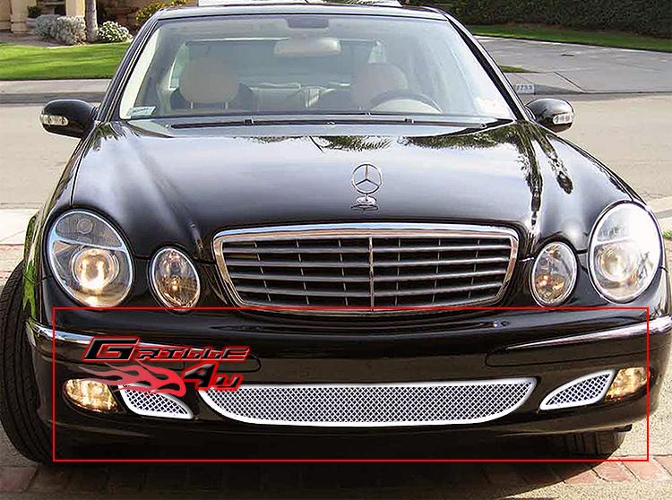 Fits 03 06 mercedes benz e class bumper mesh grille ebay for Mercedes benz custom grills