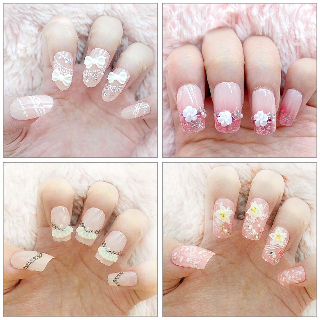 Bmc 10pc or 30pc mix design diy 3d silicone nail art for 3d acrylic nail art mold diy decoration