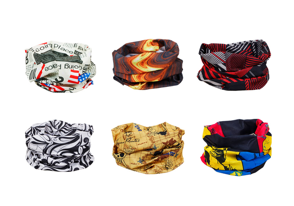Bundle Monster 6pc Multifunctional Seamless Style Bandanna Hairband Headwear Scarf Neck Wrap Beanie Cap - Mixed Sets at Sears.com