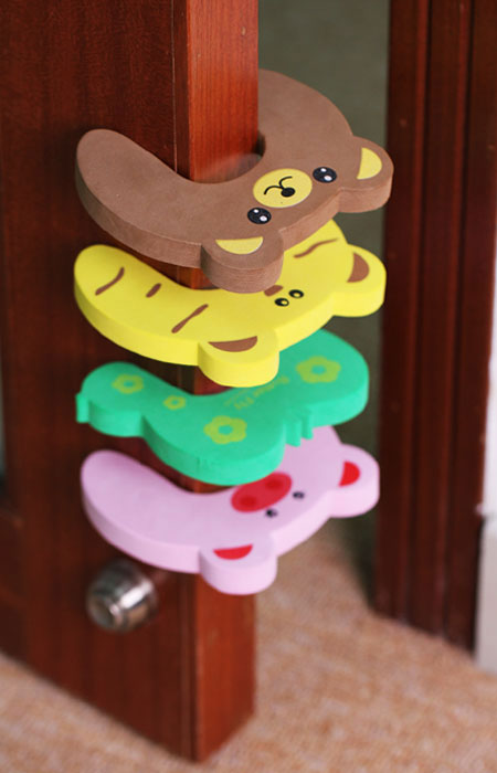 Bundle Monster Baby Child Animal Cushiony Finger Safety Door Stop Guard Set-8pc
