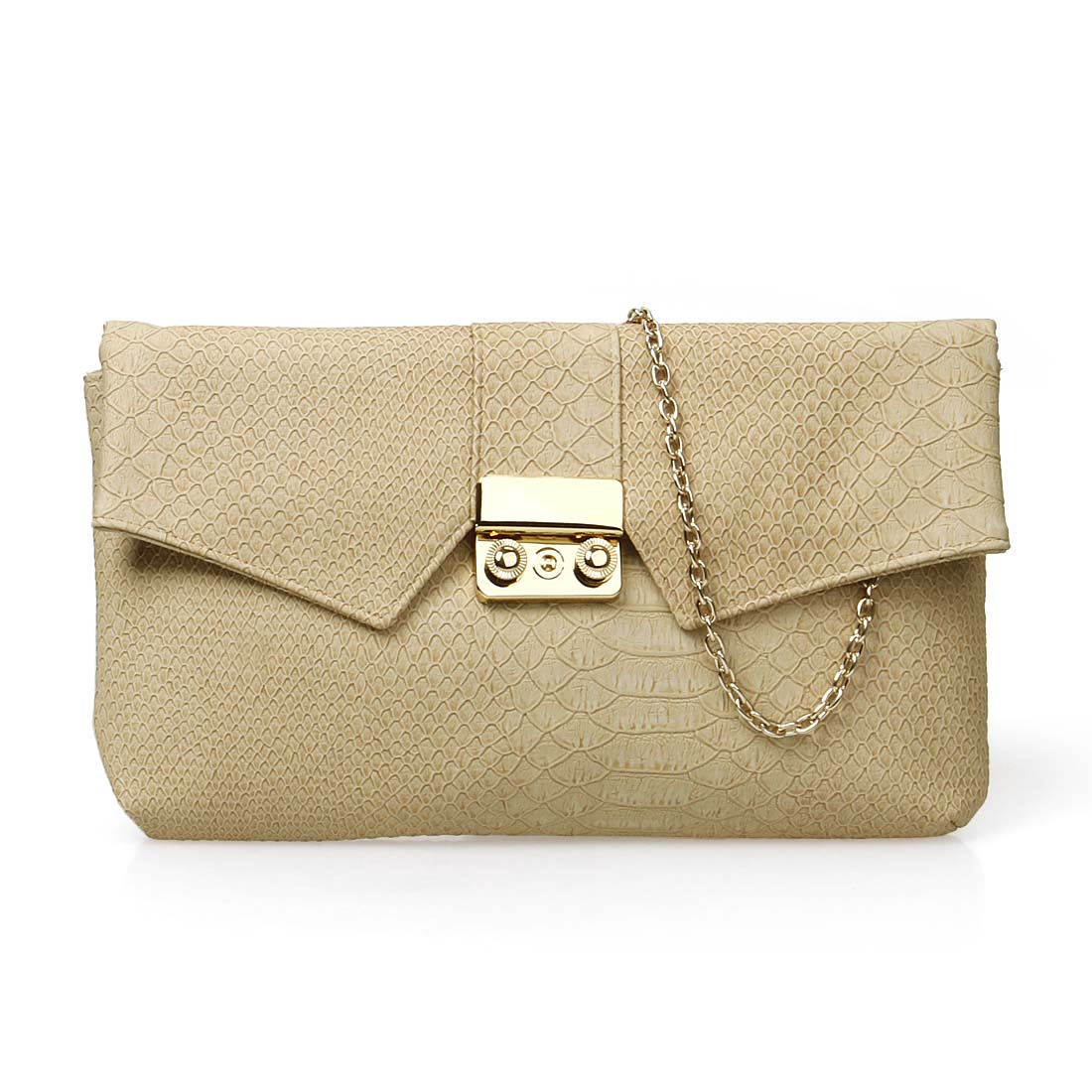 b.m.c BMC Womens PU Leather Faux Snakeskin Textured Envelope Flap Fashion Clutch at Sears.com
