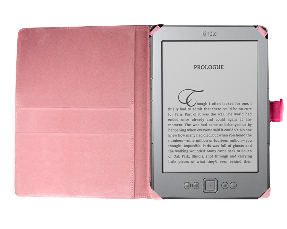 Bundle Monster Kindle 4 Synthetic Leather Cover, Skin, Screen Protector PD47