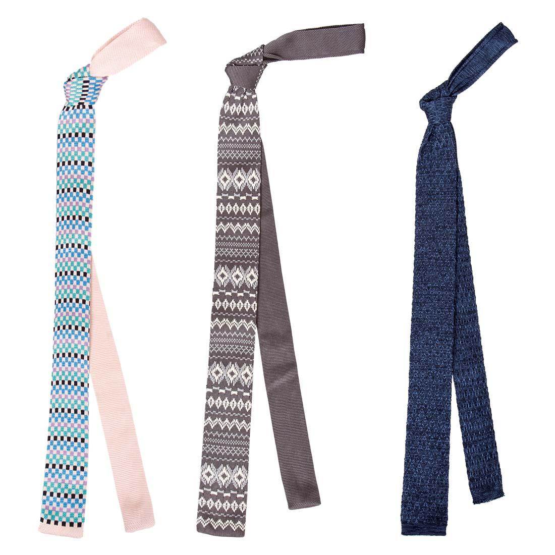 BMC Stylish 3pc Mixed Pattern Mens Fashion Knitted Neck Tie Accessory Set eBay
